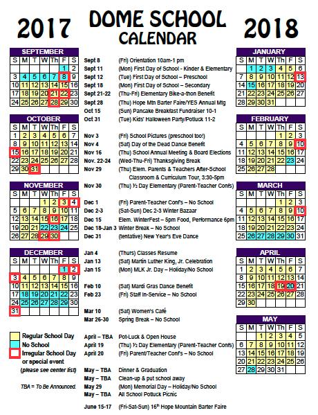 DomeCalendar17-18